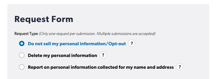 Axciom opt out form