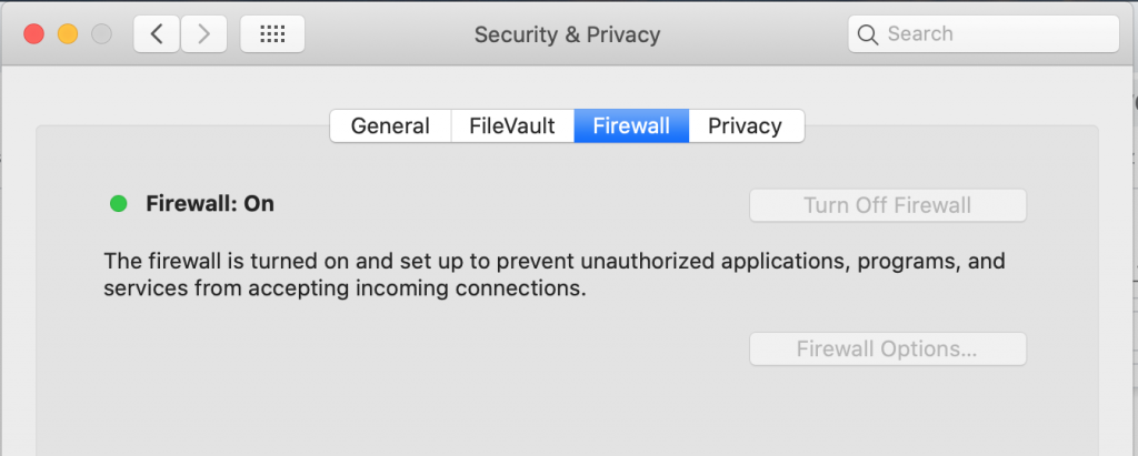 Use a firewall while connecting to public Wi-Fi to keep data secure.